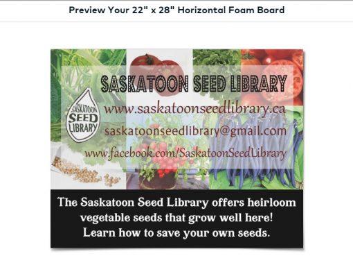 Saskatoon Seed Library Promotional Items