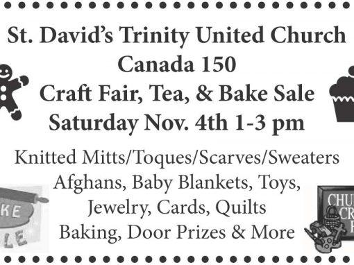 Church Craft Fair Ad