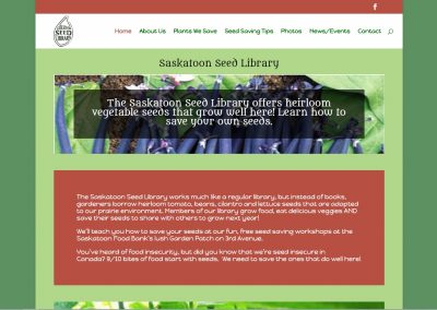 Saskatoon Seed Library Website