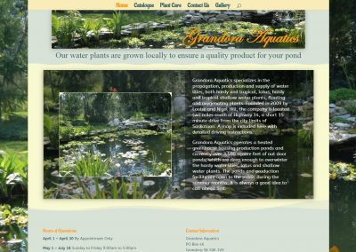 Grandora Aquatics Website