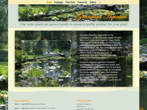 Grandora Aquatics Website